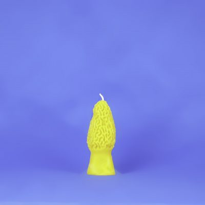 Beeswax Large Morel Mushroom Candle