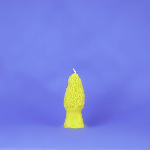 Beeswax Large Morel Mushroom Candle