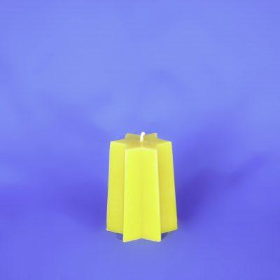 Beeswax Star Pillar Candle
