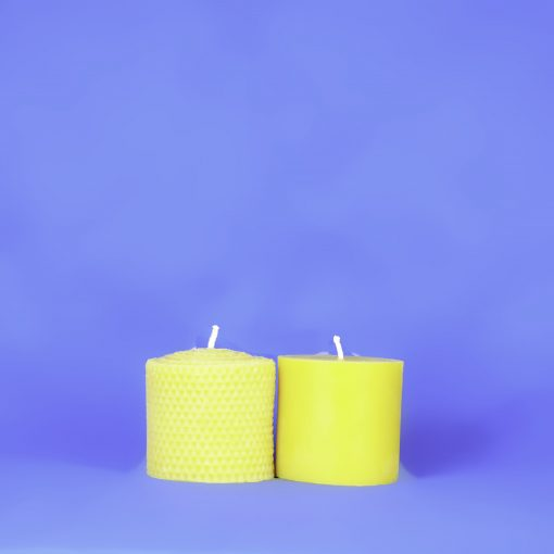 "Beeswax Solid 3"" x 3"" Honeycomb Pillar Candle"