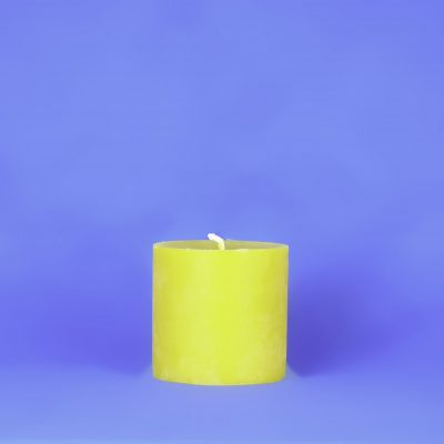 "Beeswax 4"" x 4"" Smooth Pillar Candle"