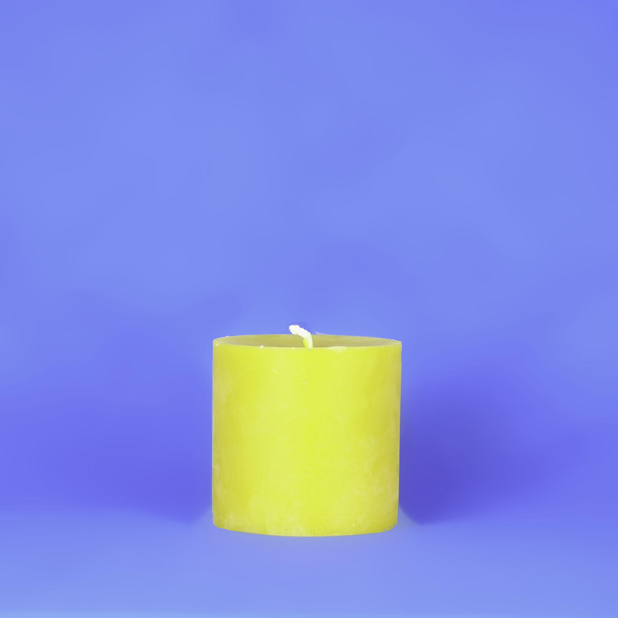 "Beeswax 4"" x 4"" Smooth Pillar Candle"