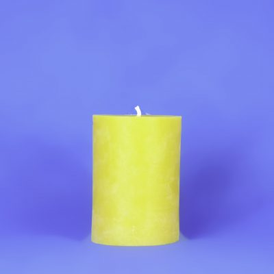 "Beeswax 4"" x 6"" Smooth Pillar Candle"