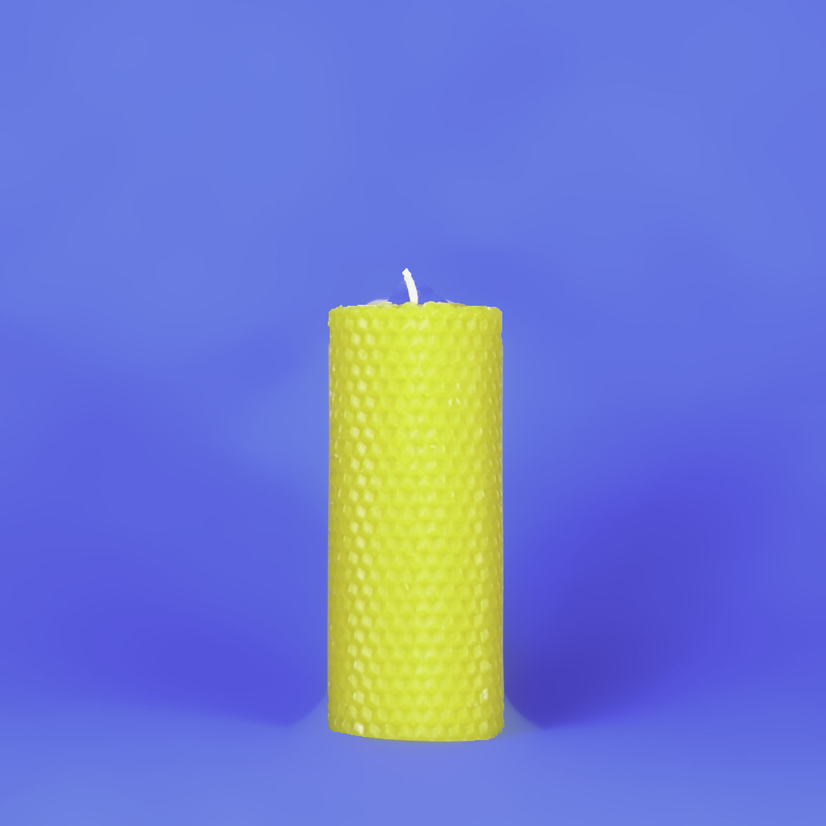 "Beeswax Solid 2"" x 5"" Honeycomb Pillar Candle"