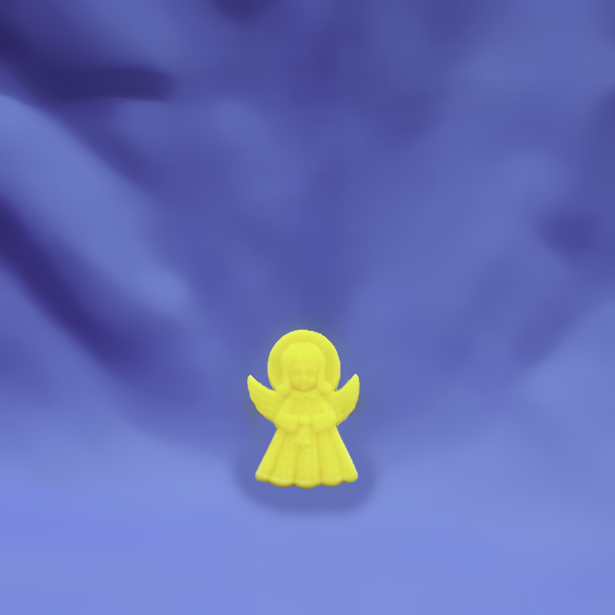 Beeswax Small Standing Angel with Bell Ornament