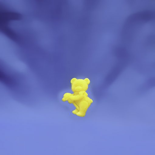 Beeswax Small Bear with Stick Horse Ornament