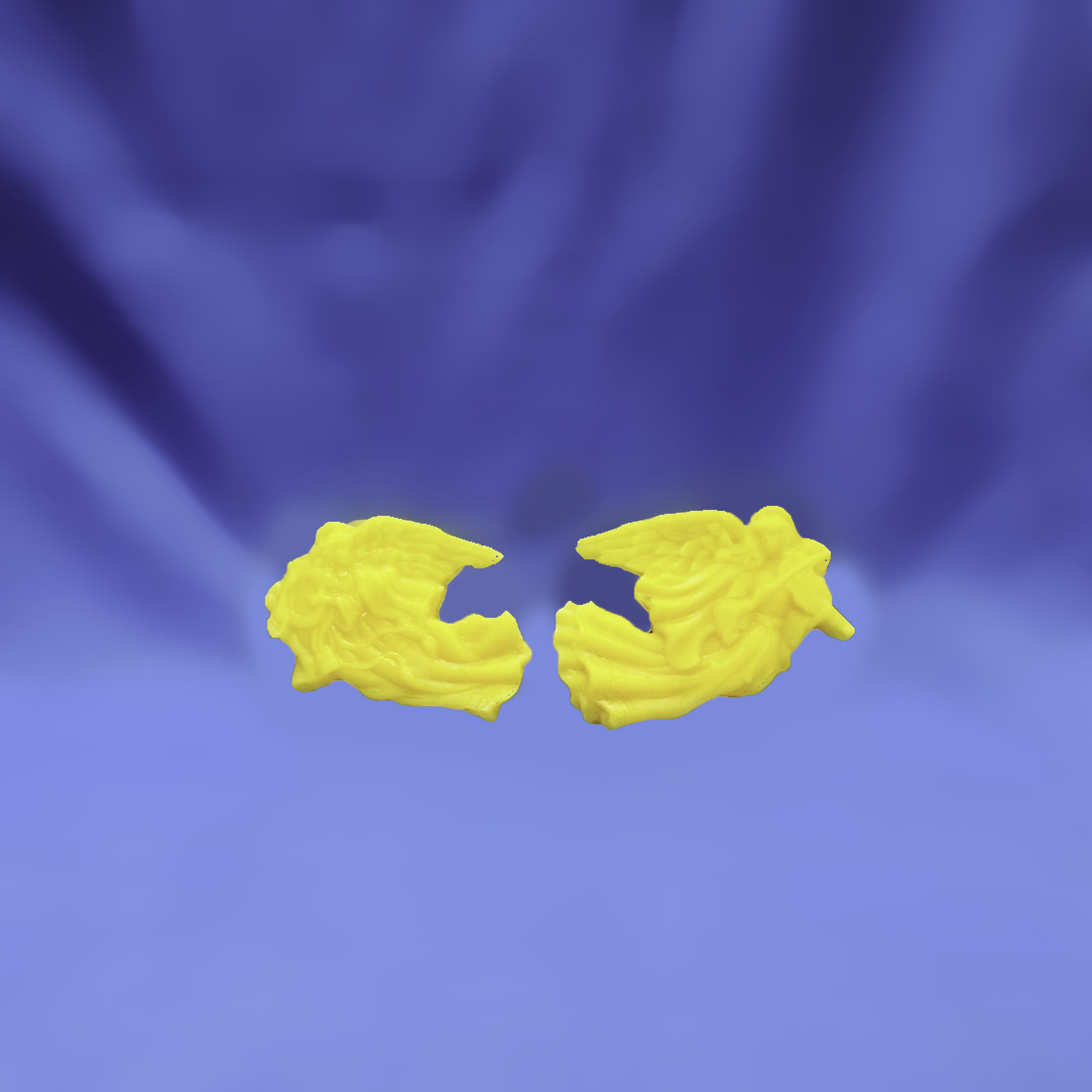 Beeswax Medium Pair of Flying Angels with Instraments Ornament