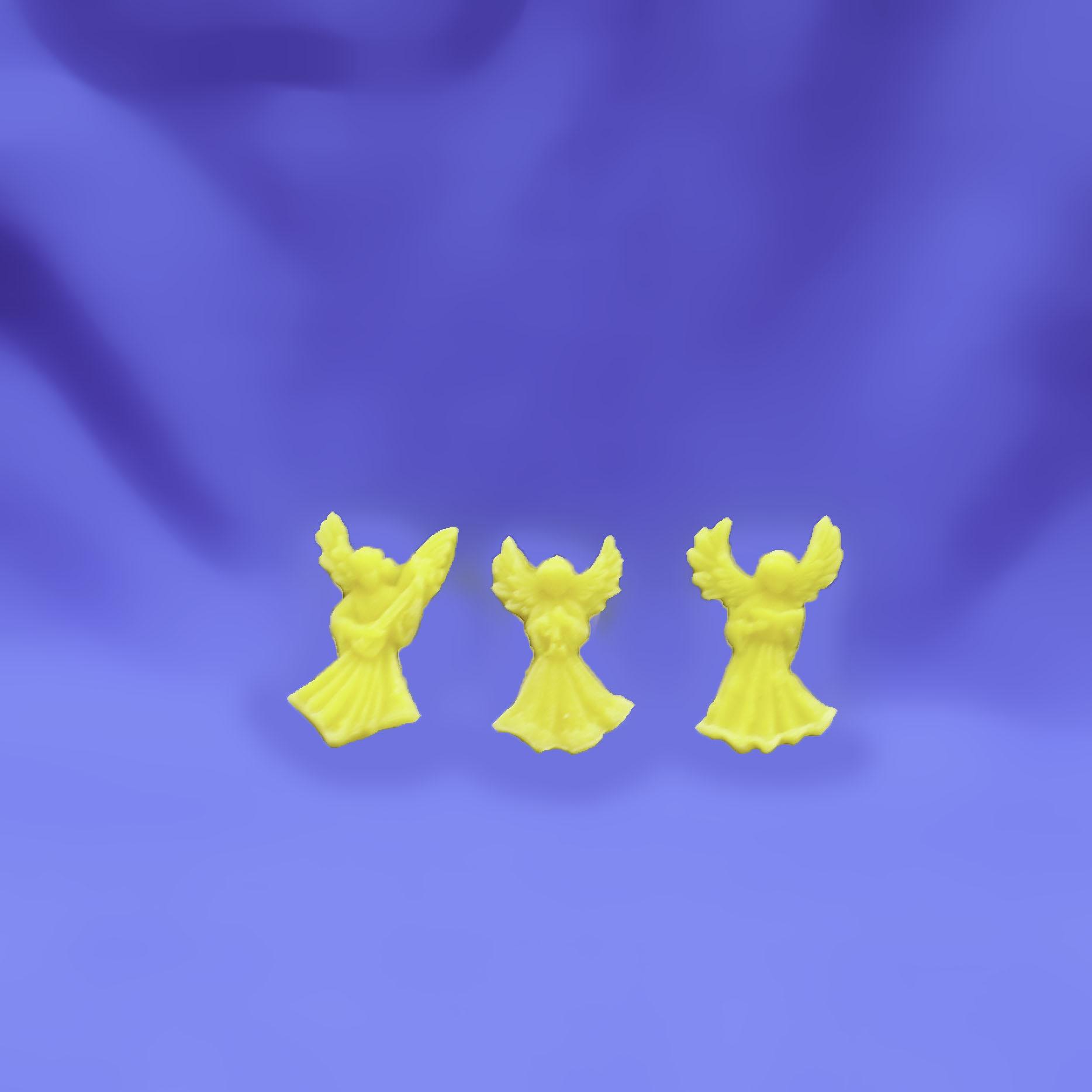 Beeswax Mini Angels Set of 3 Ornaments