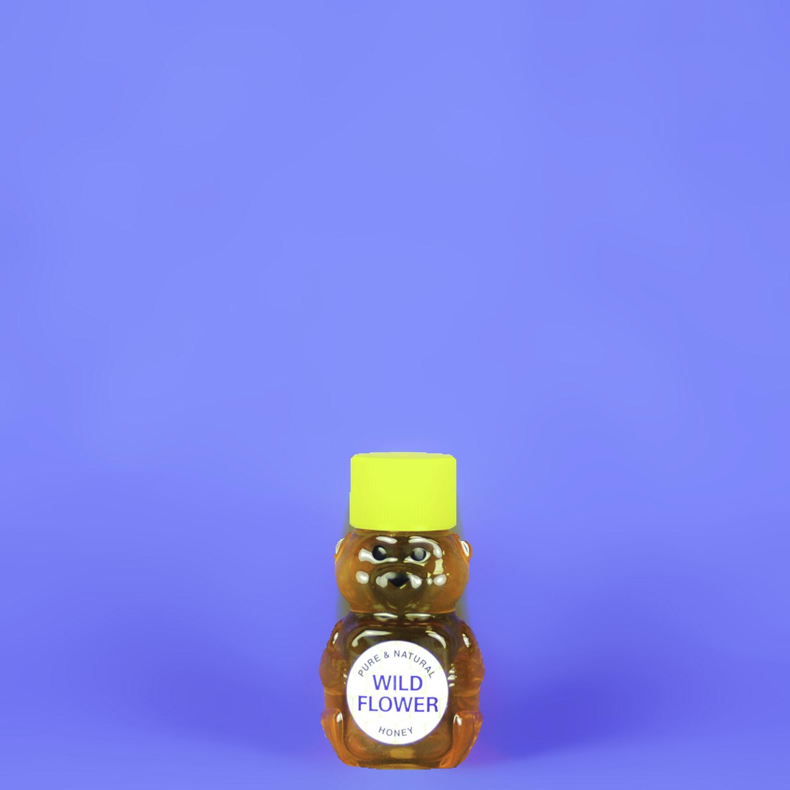 Wildflower Honey 2 oz Bear Bottle