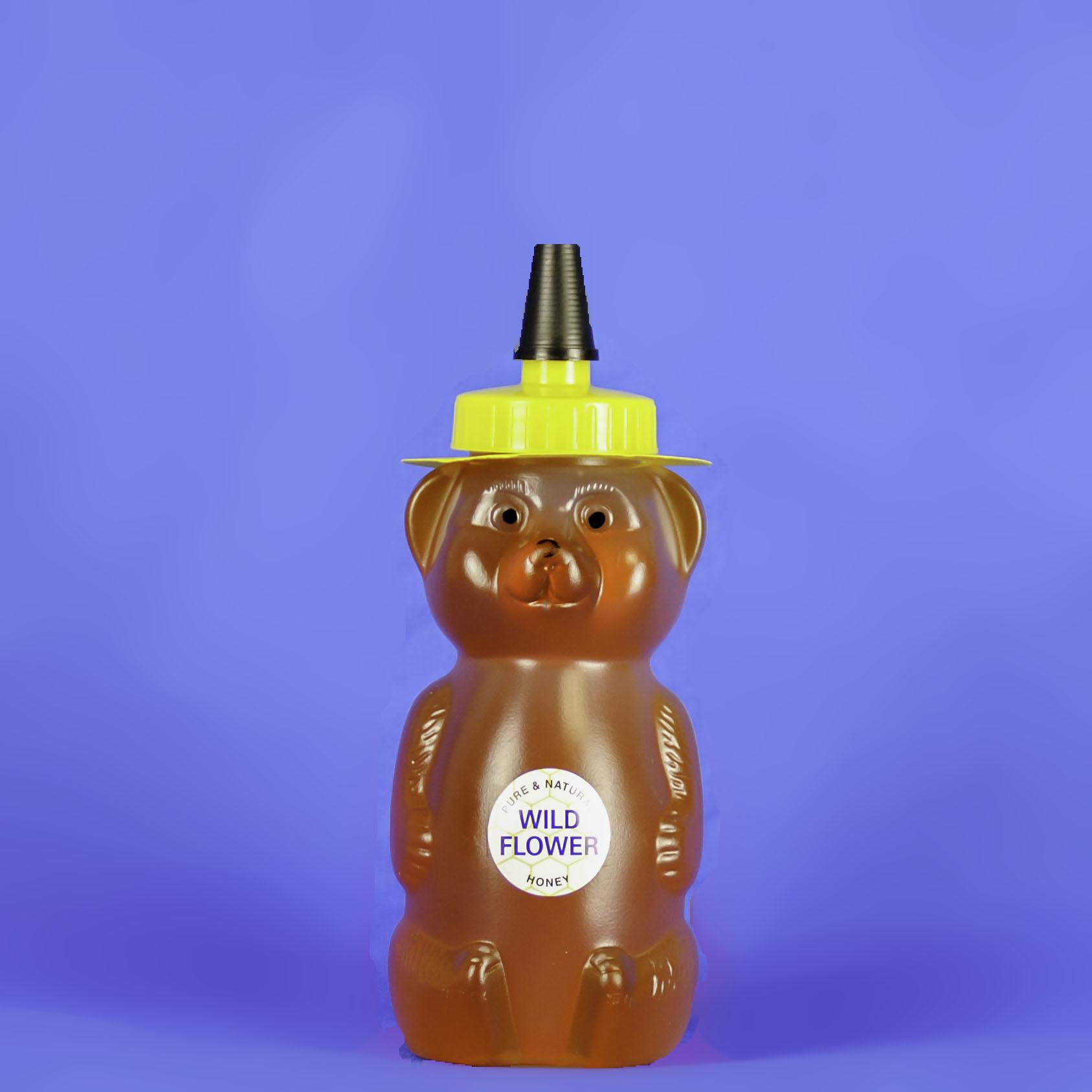 Wildflower Honey 12 oz Bear Bottle