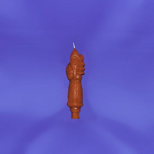 Beeswax Santa Candlestick